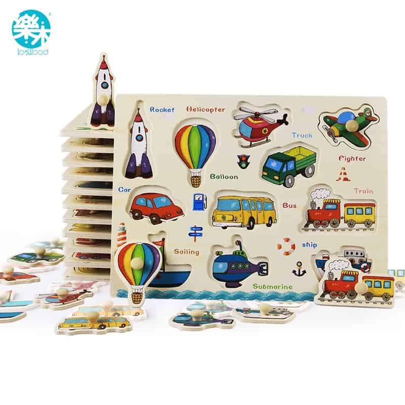 Wooden Baby Toys Puzzle Board Set