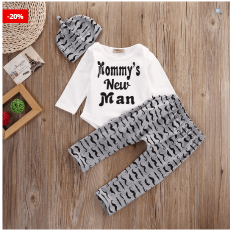 3PCS Set Baby Boy Clothes