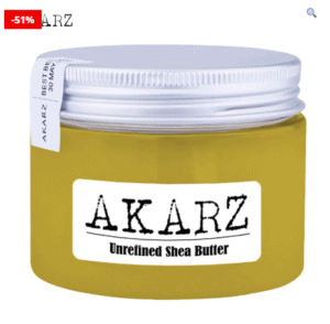 AKARZ Natural Unrefined Shea Butter Cream For Maternity Stretch Marks
