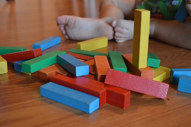 A colorful toy on a table