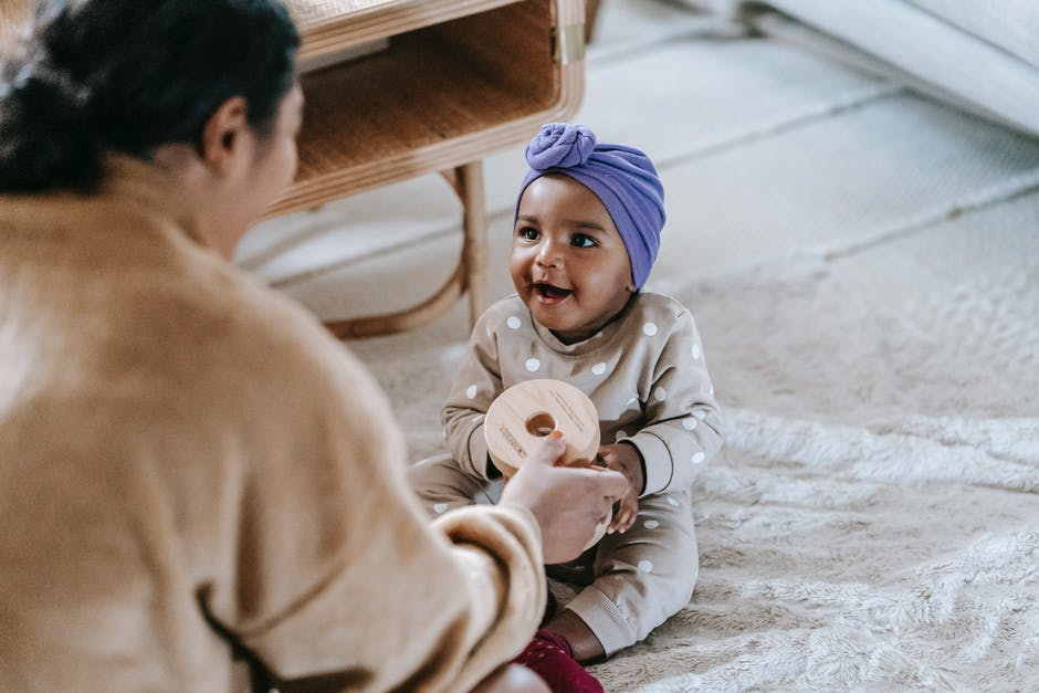 A person holding a baby